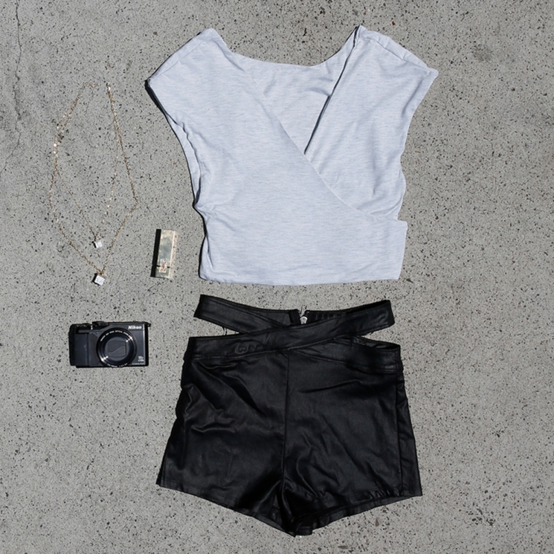 Harley Shorts and Addiction Crop